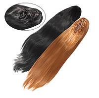 Шиньон из искусственных волос на заколках Гладкий шелк 60 см Lady Victory 100г LDV SHS-CCS /55-41
