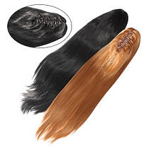 Шиньйон з штучного волосся на заколках Гладкий шовк 65 см Lady Victory 100г LDV SHS-CCS /59-41