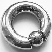Кольцо сегментное (утяжелитель) для пирсинга, диаметр 40 мм, толщина 10 мм. Медицинская сталь., фото 1