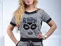 Спортивный костюм женский Турция черно-белый стильный реглан  S M L XL XXL