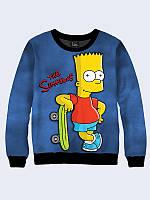 Свитшот Барт со скейтбордом