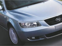 Реснички на фары Hyundai Sonata 2006-