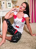 Пижама с бриджами и майкой 100% хлопок, фото 1