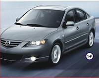 Реснички на фары Mazda 3 sedan