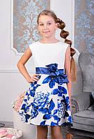 Нарядное платье с бантом для девочки №1016 (р.134)