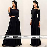 Вечернее платье с открытыми плечами, фото 1