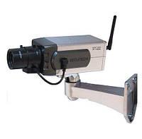 Муляж камеры видеонаблюдения. Камера обманка Dummy Camera Wireless