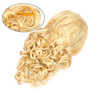Шиньон из искусственных волос на заколках Изящный завиток 45 см Lady Victory 100г LDV SHS-CCR /59-31