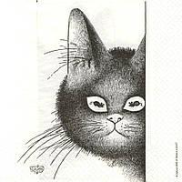 Редкая декупажная салфетка Мечта кота 5726