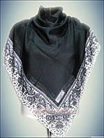 Натуральный платок однотонный чёрный, турецкий