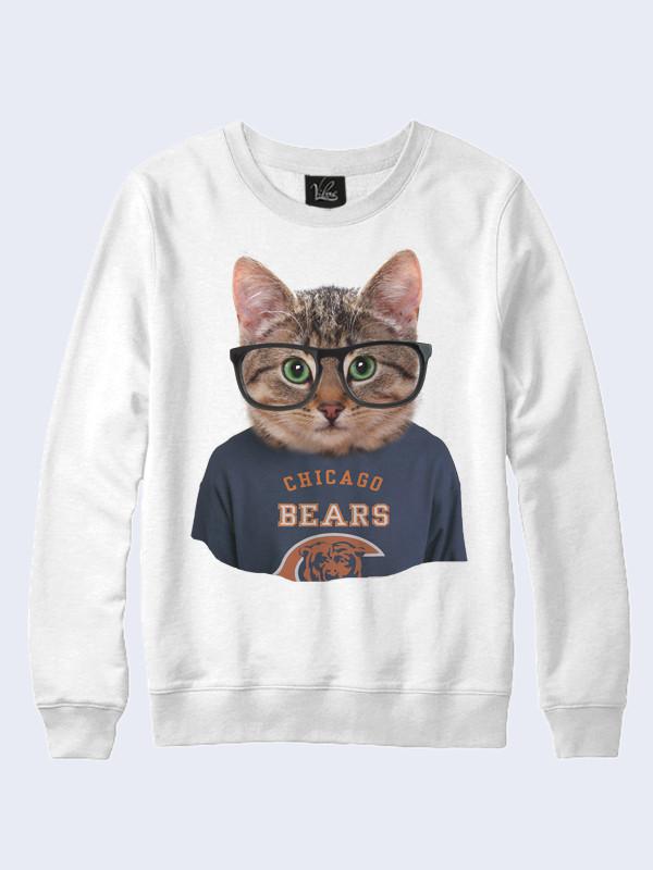 Свитшот Кошка Чикаго Мишки