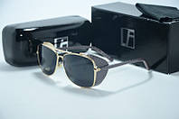 Солнцезащитные очки Linda Farrow черные с змеиной оправой, фото 1