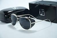 Солнцезащитные очки Linda Farrow черные с серебряной оправой , фото 1