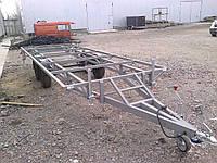 Прицеп платформа 6м х 2м. Грунт. Без тормозов., фото 1