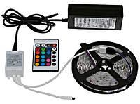 Комплект светодиодной LED ленты SMD 5050 RGB 5м  + Адаптер + Контроллер + пульт