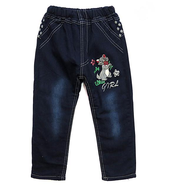 Теплые джинсы, штаны, лосины для девочки