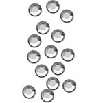 Стразы для декора ногтей - Crystal (серебро) SS3, 50 шт/уп.