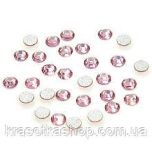 Стразы для декора ногтей - Light Rose (розовые) SS3, 50 шт/уп.