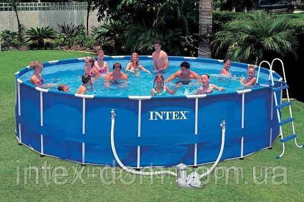 Каркасний басейн Intex 56952 Metal Frame Pool 549 x 122