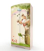 """Шкаф для детской комнаты """"Мишка с букетом"""""""