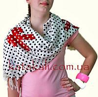 Женский шарф в горошек
