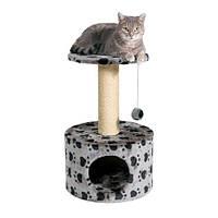 """*Домик с когтеточкой """"ТОЛЕДО"""" для кошек и котят, 61см, серый"""