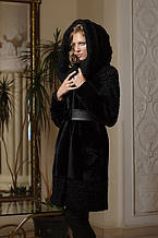 Шуба з мутону і афганського каракулю Mouton and Afghan karakul curly lamb fur coat fur-coat