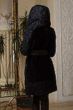 Шуба из мутона и афганского каракуля Mouton and Afghan karakul curly lamb fur coat fur-coat, фото 4