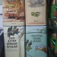 Оливкова олія. Жестяні банки 5л. Італія.