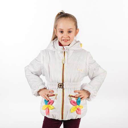 """Демисезонная куртка - жилет на девочку """"Цветы"""" новинка от производителя, оптом и в розницу"""