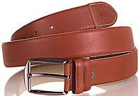 Мужской элегантный ремень из натуральной кожи Y.S.K. (УАЙ ЭС КЕЙ) SHI4030-10R коричневый