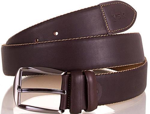 Мужской стильный ремень из натуральной кожи Y.S.K. (УАЙ ЭС КЕЙ) SHI4030-10 коричневый
