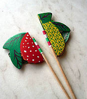 Шпажки-пики Фрукты для декора и украшения (уп. 100 шт)