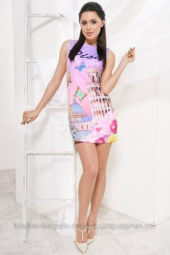 Женское платье с печатью D&G 2016