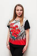 Женская футболка красные маки 1253