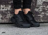 Женские кроссовки Nike Air Huarache Black(36-40 Размер)(ТОП РЕПЛИКА ААА+)