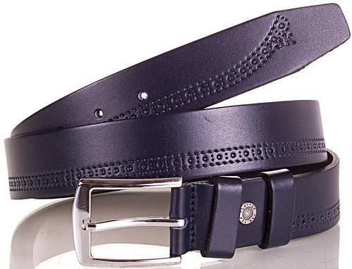 Мужской модный кожаный ремень Y.S.K. (УАЙ ЭС КЕЙ) SHI2027-6 синий