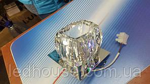 Светильник точечный ack 2589, 20Вт, 220В, прозрачный хрусталь