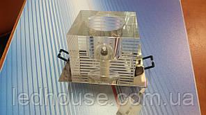 Светильник точечный ack 2591, 20Вт, 220В, прозрачный хрусталь