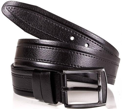 Стильный кожаный мужской ремень Y.S.K. (УАЙ ЭС КЕЙ) SHI3018-1 черный