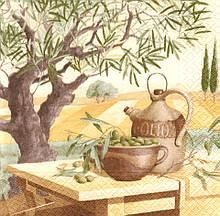 Рідкісна декупажна серветка Оливковий натюрморт 5737