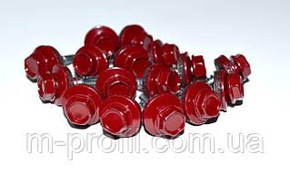 Саморез кровельный, 4,8Х19 мм, RAL 3005, саморез для профнастила, по металлу