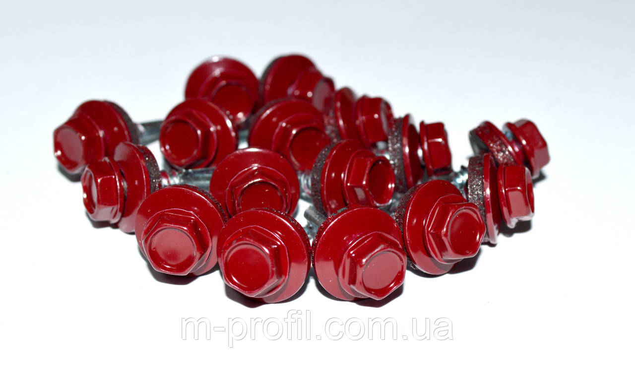 Саморез кровельный, 4,8Х19 мм, RAL 3005, саморез для профнастила, по металлу  - «М-профиль» в Кировоградской области