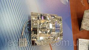 Светильник точечный ack 2621, 20Вт, 220В, прозрачный хрусталь