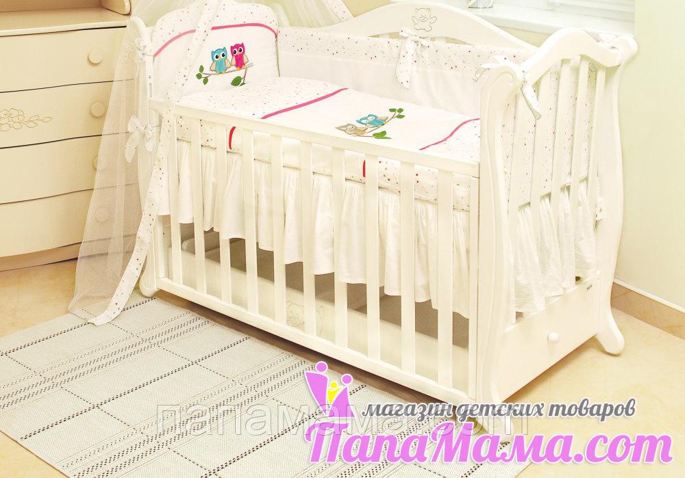 Детское постельное белье в кроватку 4в1 Twins Сова