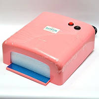 Уф лампа 36Вт Сушка для ногтей (розовая)