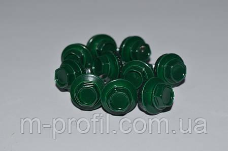 Саморез кровельный, 4,8Х19 мм, RAL 6005, саморез для профнастила, по металлу , фото 2