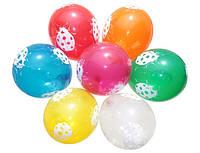 Воздушные шары Gemar, расцветка: Пастель ассорти, Шелкография Божья коровка, Диаметр 30 см, 100 шт.