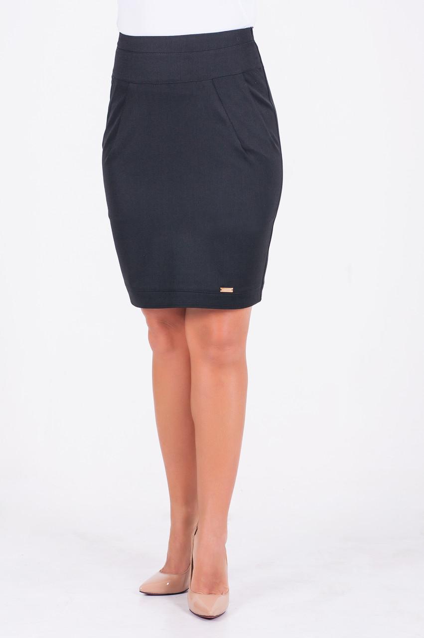 Деловая юбка-карандаш Оливия, черного цвета