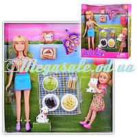 """Кукольный набор Defa """"Кукла с дочкой: Пикник"""", 2 вида: 8 аксессуаров в комплекте"""